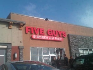 5 Guys Burger and Fries