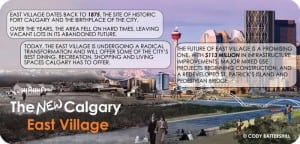 East Village Calgary Infographic