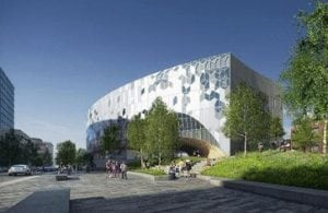 east village new central library glass exterior picture