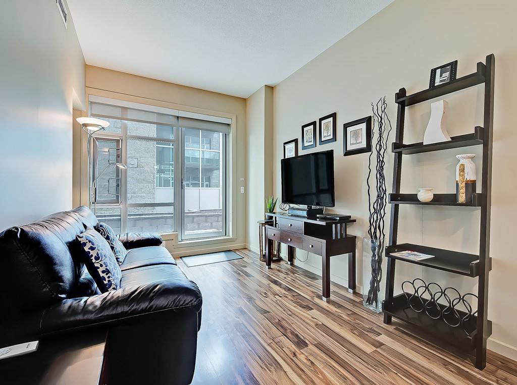 sasso condo for sale living room view 208 1410 1st street se